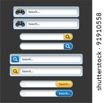 vector web search bars with... | Shutterstock .eps vector #91910558
