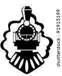 the steam locomotive. old rail. ...   Shutterstock .eps vector #91915199