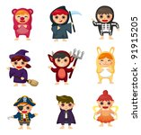 costume party | Shutterstock .eps vector #91915205
