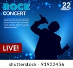 concert poster with a singer | Shutterstock .eps vector #91922456