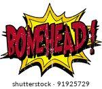bonehead comic | Shutterstock .eps vector #91925729