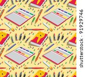 seamless pattern   school... | Shutterstock .eps vector #91929746