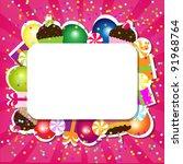 birthday color card | Shutterstock . vector #91968764