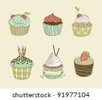 vector illustration of six... | Shutterstock .eps vector #91977104