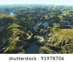 amazon river bird's eye view | Shutterstock . vector #91978706