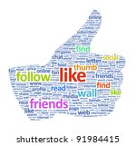 illustration of the thumbs up... | Shutterstock . vector #91984415