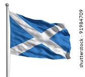 flag of scotland | Shutterstock . vector #91984709