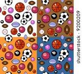 sport balls pattern in four...   Shutterstock .eps vector #9200209
