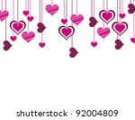 abstract background with hearts.... | Shutterstock . vector #92004809