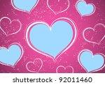 valentine postcard  hearts on...
