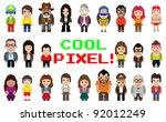 pixel art style occupation... | Shutterstock .eps vector #92012249
