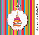 happy birthday card. birthday... | Shutterstock .eps vector #92014703