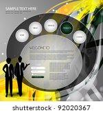 web design template | Shutterstock .eps vector #92020367