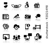 icons set social media | Shutterstock .eps vector #92021498