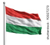 flag of hungary | Shutterstock . vector #92027273