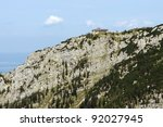 view of Hitler's house in the bavarian Alps near Berchtesgaden, Germany - stock photo