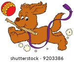 dog playing | Shutterstock .eps vector #9203386
