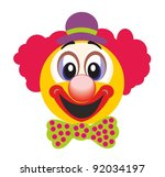 happy clown | Shutterstock .eps vector #92034197