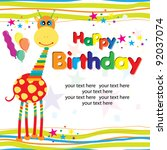 happy birthday candle and... | Shutterstock .eps vector #92037074