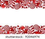 frame made of red and white... | Shutterstock .eps vector #92046974