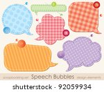 set of speech bubbles ... | Shutterstock .eps vector #92059934