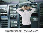 it business man in network... | Shutterstock . vector #92065769