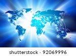 vector global network... | Shutterstock .eps vector #92069996