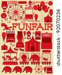 seamless fun fair vector... | Shutterstock .eps vector #92070236