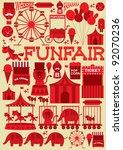 seamless fun fair vector... | Shutterstock .eps vector #92070236