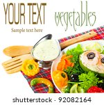 the composition of vegetable | Shutterstock . vector #92082164