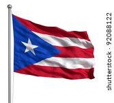 puerto rico flag | Shutterstock . vector #92088122