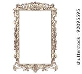 frame vector   vintage engraved ... | Shutterstock .eps vector #92095595