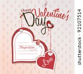 valentines day   love card | Shutterstock .eps vector #92107514