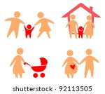 family set of icons | Shutterstock .eps vector #92113505