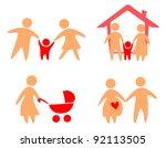 family set of icons   Shutterstock .eps vector #92113505