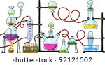 the chemical laboratory on a... | Shutterstock .eps vector #92121502