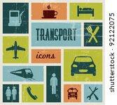 Vector vintage transport (traffic) poster - stock vector