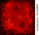 red valentines background with... | Shutterstock . vector #92134804