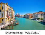 canal grande with basilica... | Shutterstock . vector #92136817