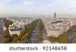 Avenue de la Grande Armée in Paris, France - stock photo