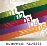 design template numbered... | Shutterstock .eps vector #92148898