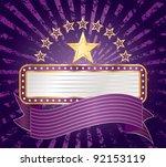 ten purple stars with blank... | Shutterstock .eps vector #92153119