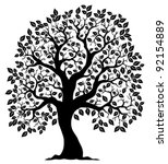 tree shaped silhouette 3  ... | Shutterstock .eps vector #92154889