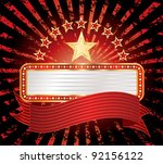 ten stars with blank billboard   Shutterstock .eps vector #92156122