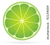 lime on a white background.... | Shutterstock .eps vector #92159059