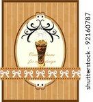 cappuccino  chocolate   vector... | Shutterstock .eps vector #92160787