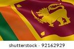 sri lankan flag in the wind.... | Shutterstock . vector #92162929
