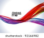 abstract colorful rainbow wave background vector illustration - stock vector