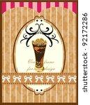 ice blended shake chocolate... | Shutterstock .eps vector #92172286