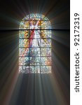 Biblical Stained Glass With...